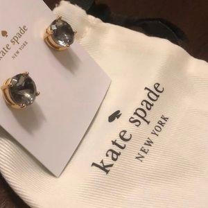 Kate Spade Black Gumdrop Gold Earrings